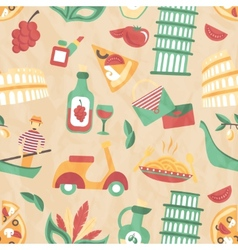 Italy seamless pattern vector