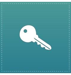 Key symbol isolated on background vector image