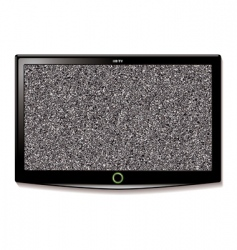 Lcd tv wall hang static vector