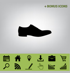 Men shoes sign black icon at gray vector