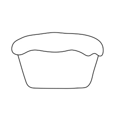 Muffin icon in outline style vector image vector image