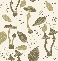 Mushroom Graphic Design Pattern vector image vector image