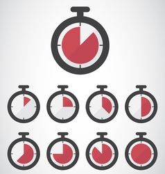 Red stopwatch icon vector