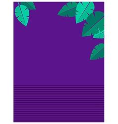 Retro Flower Leaves Background vector image