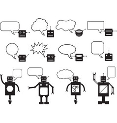 Robots talking vector