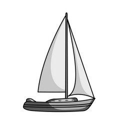 sailboat for sailingboat to compete in sailing vector image
