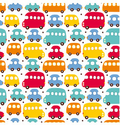 seamless pattern car vector image vector image