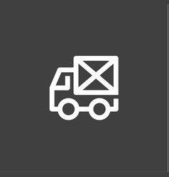 Single line car icon mail envelope on the back vector