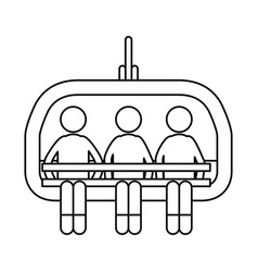 Ski lift chairs vector