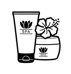 Spa Wellness logo vector image