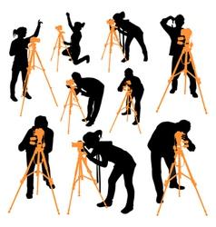 Surveyor silhouettes vector