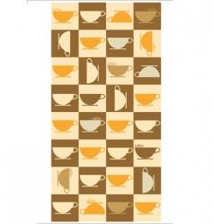 texture coffee vector image