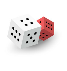 Two dice cubes icon isometric 3d style vector