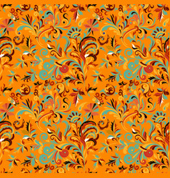 vintage baroque seamless pattern with swirls and vector image