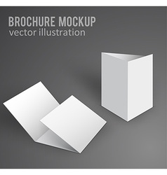 white mockup broshure 3d with shadow vector image vector image