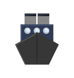 Merchant container ship icon vector