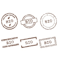 Bio stamps vector image