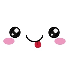 Kawaii happy face design vector