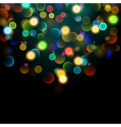 Abstract background with bokeh effect vector