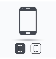 Smartphone icon mobile phone communication vector