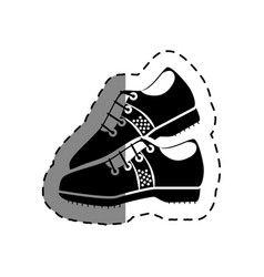 golf shoes isolated icon vector image