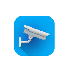 Flat street surveillance camera vector
