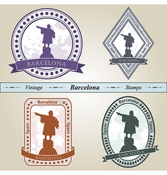 Vintage stamp barcelona vector