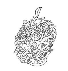 Cartoon hand drawn doodles on sea style wave vector
