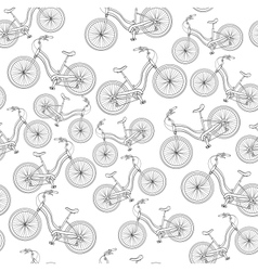 bicycles seamless pattern vector image