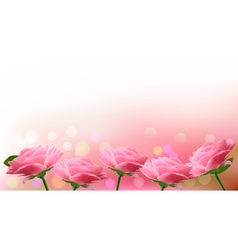 Holiday background with pink flowers vector