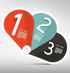 Retro paper three steps infographics labels design vector