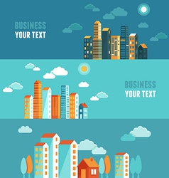 City in flat simple style vector