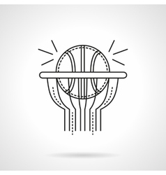 Basketball shot flat line icon vector
