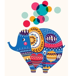 Lovely cute elephant vector