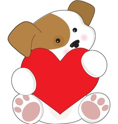 Cute puppy valentine vector