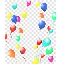 Transparent colorful balloons vector