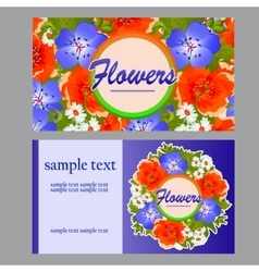 Two colorful cards for your business needs vector