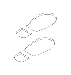 Imprint soles shoes icon isometric 3d style vector