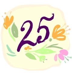 Anniversary 25th signs vector