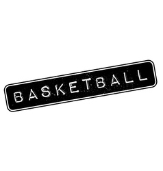 Basketball rubber stamp vector image