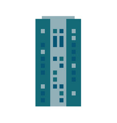 building urban skyscraper estate vector image