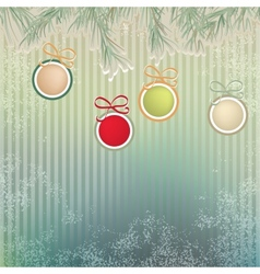 Christmas background with retro balls EPS8 vector image vector image