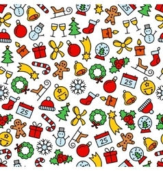 Colourful christmas seamless pattern vector