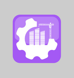Construction application icon vector