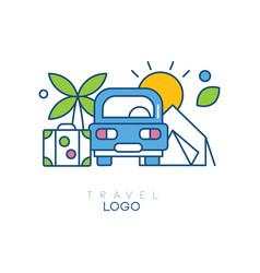 Creative hobby logo template for travel blog vector