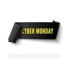 Cyber monday curved paper banner vector