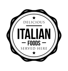 Delicious italian foods vintage stamp vector