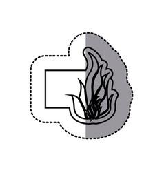 Figure emblem sticker fire icon vector