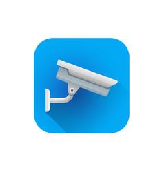 flat street surveillance camera vector image