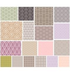 Geometric patterns seamless set vector image